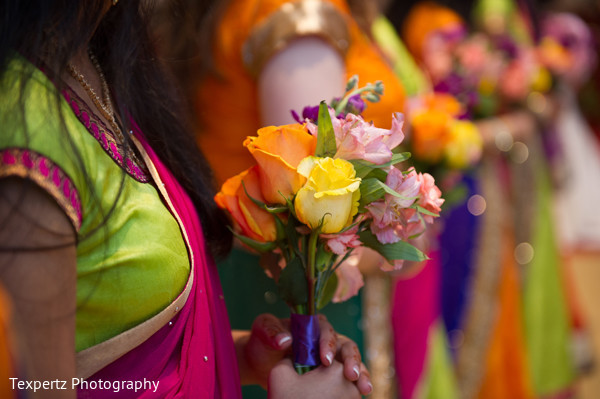 Bridesmaids bouquets in Dallas, TX Indian Fusion Wedding by Texpertz Photography