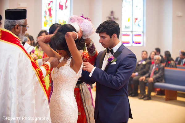 Ceremony in Dallas, TX Indian Fusion Wedding by Texpertz Photography