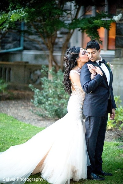 Reception Portrait in Long Island, NY Indian Fusion Wedding by Salwa Photography