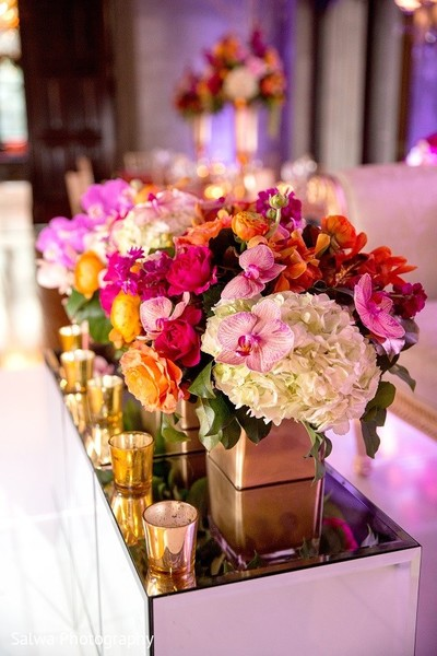 Floral & Decor in Long Island, NY Indian Fusion Wedding by Salwa Photography
