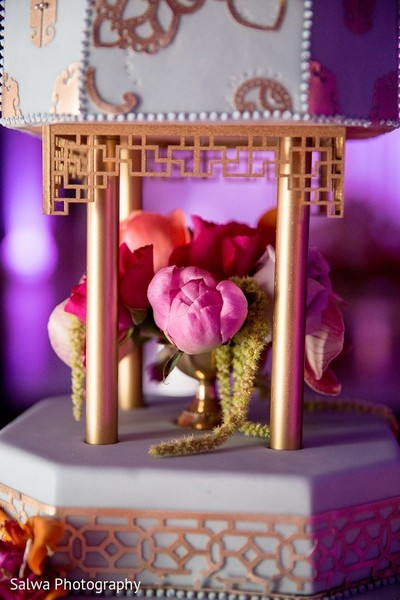 Wedding Cake in Long Island, NY Indian Fusion Wedding by Salwa Photography