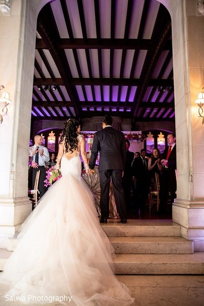 Reception in Long Island, NY Indian Fusion Wedding by Salwa Photography