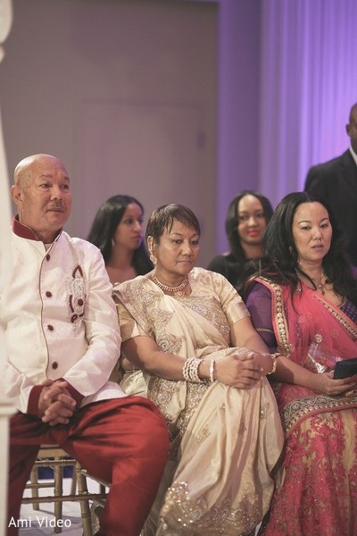 Ceremony in Daytona Beach, FL Indian Fusion Wedding by Ami Video
