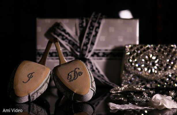 Shoe Details in Daytona Beach, FL Indian Fusion Wedding by Ami Video
