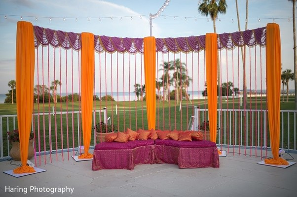 Garba Decor in Safety Harbor, FL Indian Fusion Wedding by Haring Photography