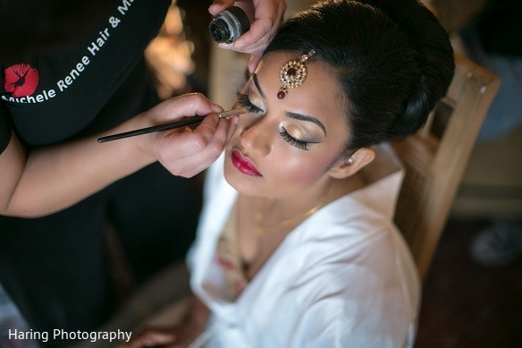 Getting Ready in Safety Harbor, FL Indian Fusion Wedding by Haring Photography