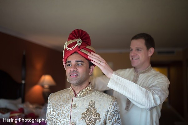 Groom Getting Ready in Safety Harbor, FL Indian Fusion Wedding by Haring Photography