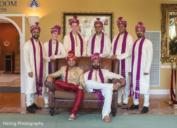 Groomsmen in Safety Harbor, FL Indian Fusion Wedding by Haring Photography