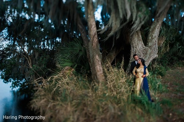 Reception Portrait in Safety Harbor, FL Indian Fusion Wedding by Haring Photography