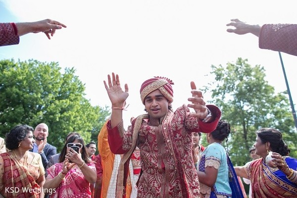 Baraat in Hauppauge, NY Indian Wedding by KSD Weddings