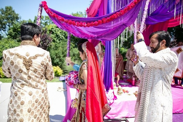 Ceremony in Hauppauge, NY Indian Wedding by KSD Weddings