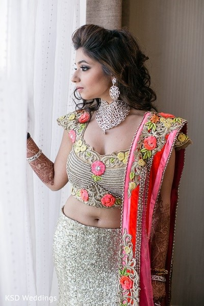 Reception Fashion in Hauppauge, NY Indian Wedding by KSD Weddings
