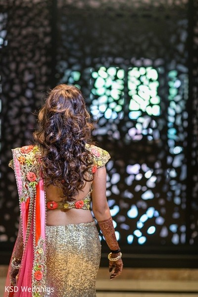 Reception Hair in Hauppauge, NY Indian Wedding by KSD Weddings