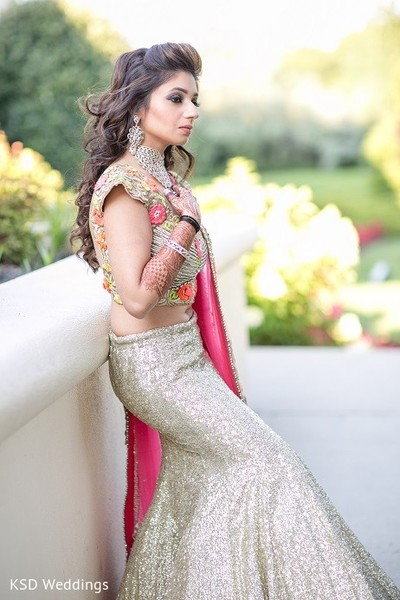Reception Portrait in Hauppauge, NY Indian Wedding by KSD Weddings