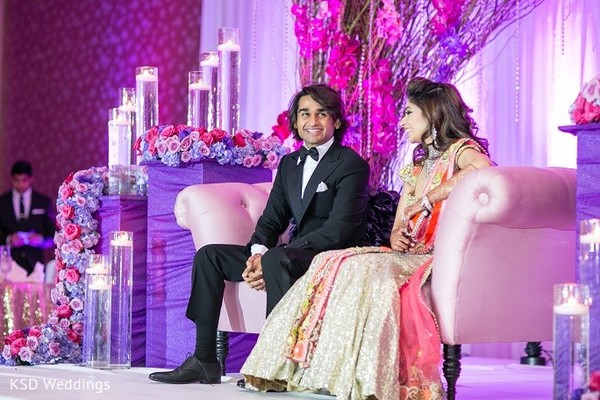 Reception in Hauppauge, NY Indian Wedding by KSD Weddings