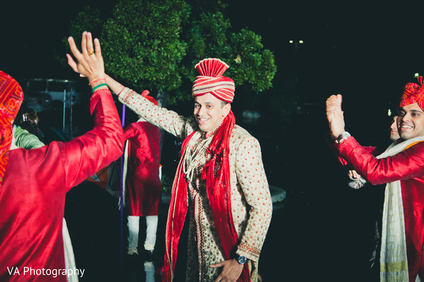 Baraat in Fremont, CA Indian Fusion Wedding by VA Photography