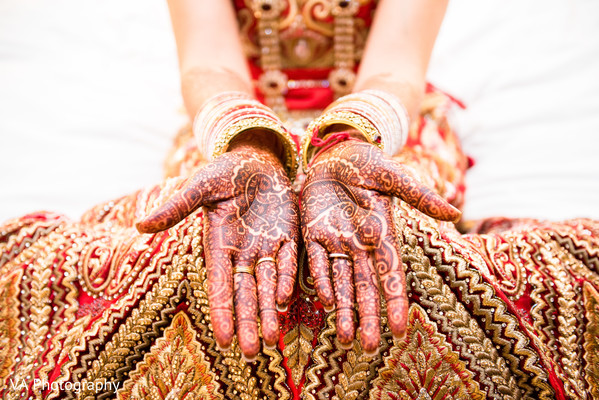Mehndi hands in Fremont, CA Indian Fusion Wedding by VA Photography