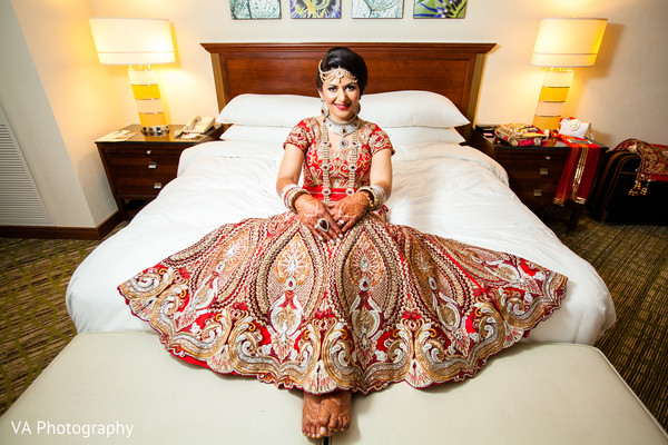 Indian bride in Fremont, CA Indian Fusion Wedding by VA Photography