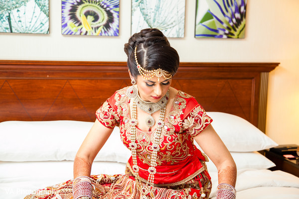 Bridal details in Fremont, CA Indian Fusion Wedding by VA Photography