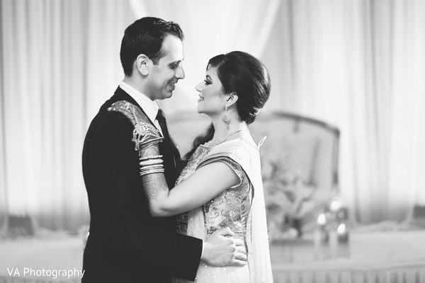 Reception portrait in Fremont, CA Indian Fusion Wedding by VA Photography