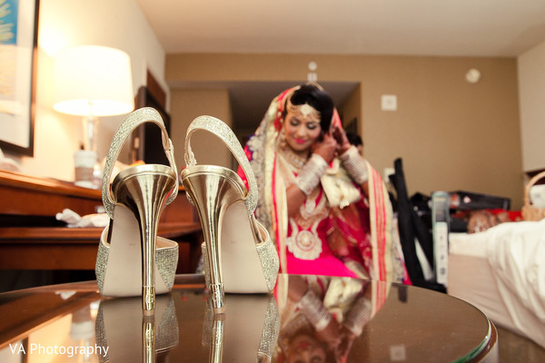 Shoes in Fremont, CA Indian Fusion Wedding by VA Photography