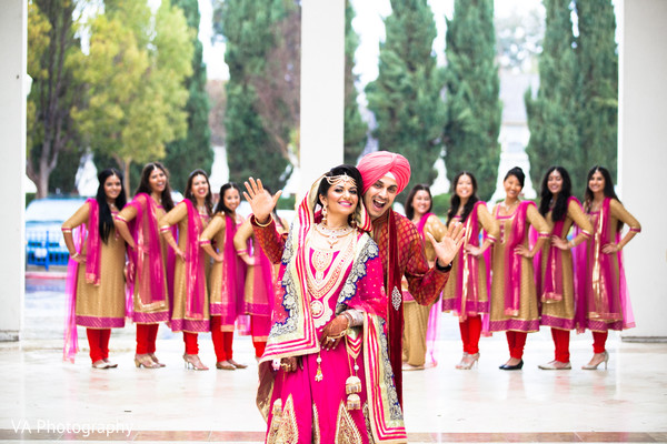 Sikh wedding portrait in Fremont, CA Indian Fusion Wedding by VA Photography