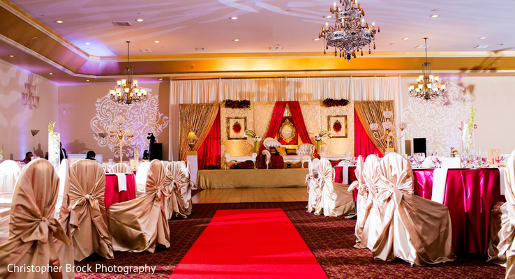 Reception decor in Atlanta, GA Pakistani Wedding by Christopher Brock Photography