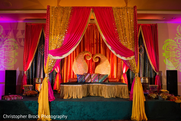 Sangeet decor in Atlanta, GA Pakistani Wedding by Christopher Brock Photography