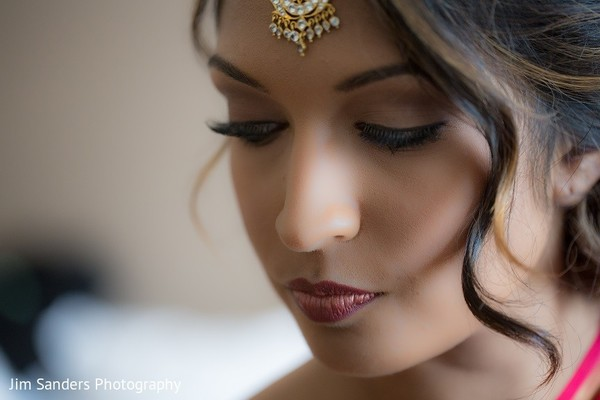 Makeup in Columbus, OH Indian Wedding by Jim Sanders Photography