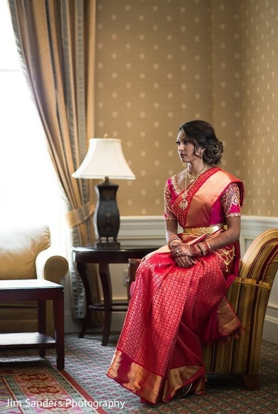 Bridal Portrait in Columbus, OH Indian Wedding by Jim Sanders Photography