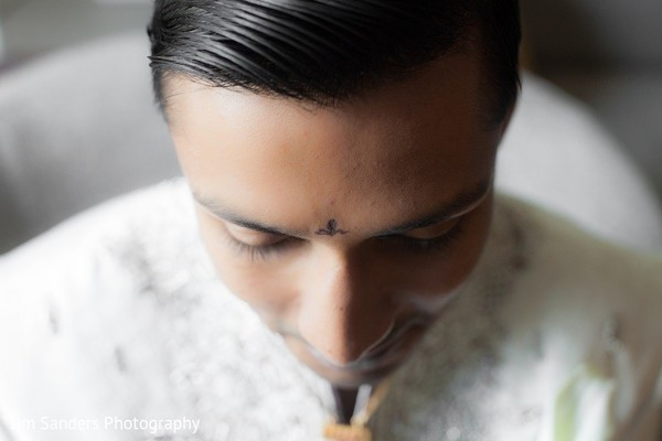 Groom Getting Ready in Columbus, OH Indian Wedding by Jim Sanders Photography