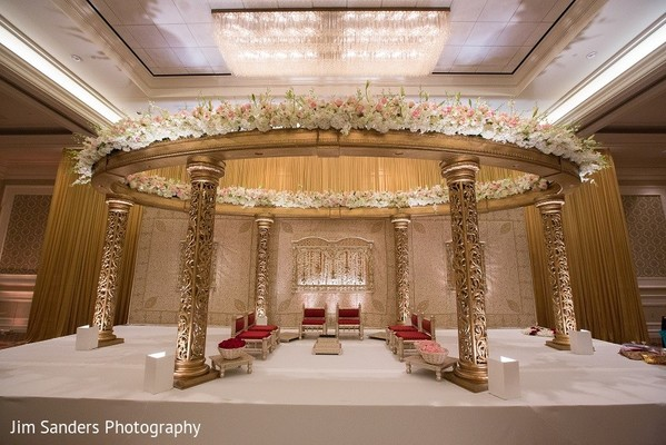Mandap in Columbus, OH Indian Wedding by Jim Sanders Photography