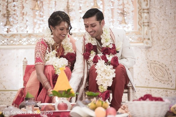 Ceremony in Columbus, OH Indian Wedding by Jim Sanders Photography