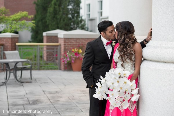 Reception Portrait in Columbus, OH Indian Wedding by Jim Sanders Photography