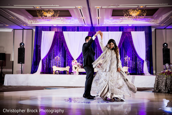 Reception portrait in Atlanta, GA Pakistani Wedding by Christopher Brock Photography