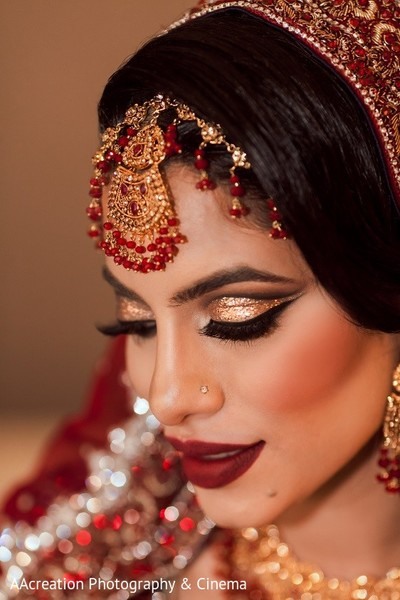 Makeup & Jewelry in Cerritos, CA Pakistani Wedding by AAcreation Photography & Cinema