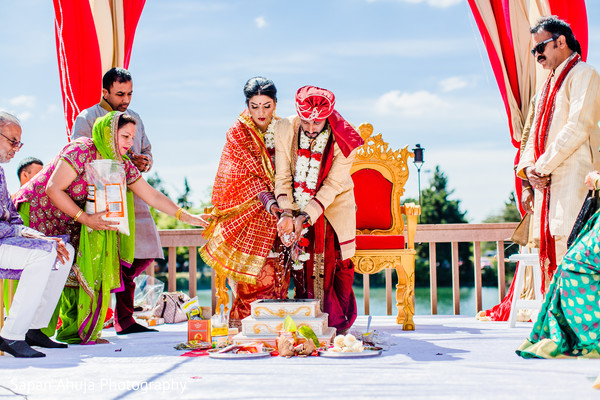 Ceremony in Chicago, IL Indian Wedding by Sapan Ahuja Photography