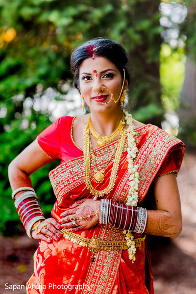 Bridal Portrait in Chicago, IL Indian Wedding by Sapan Ahuja Photography