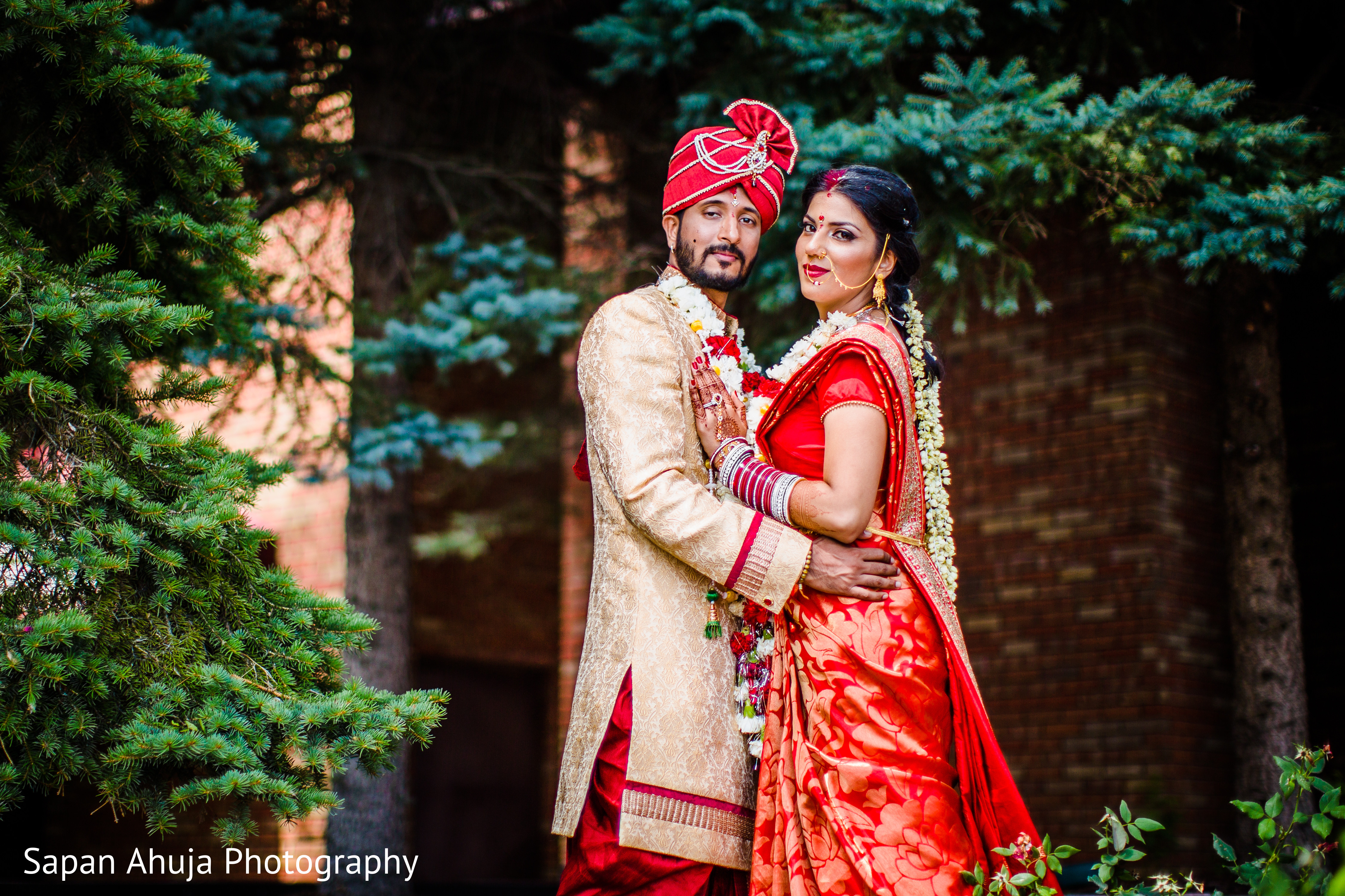 Wedding Portrait In Chicago IL Indian Wedding By Sapan Ahuja Photography