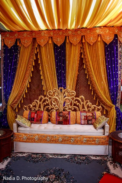 Mehndi Decor in Irving, TX Indian Wedding by Nadia D. Photography