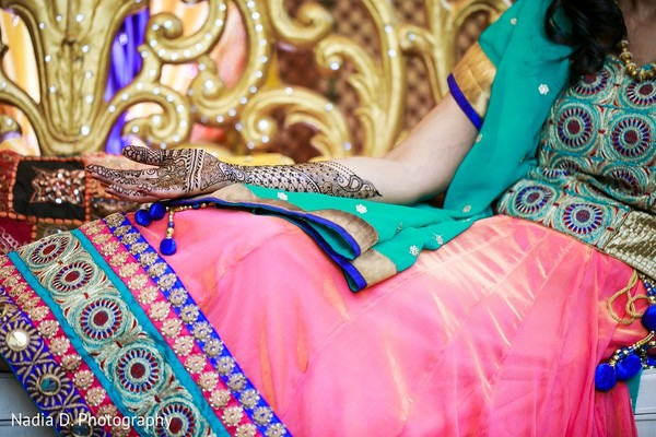 Pre-Wedding Lengha Detail in Irving, TX Indian Wedding by Nadia D. Photography