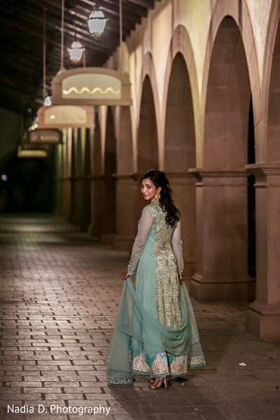 Sangeet Portrait in Irving, TX Indian Wedding by Nadia D. Photography