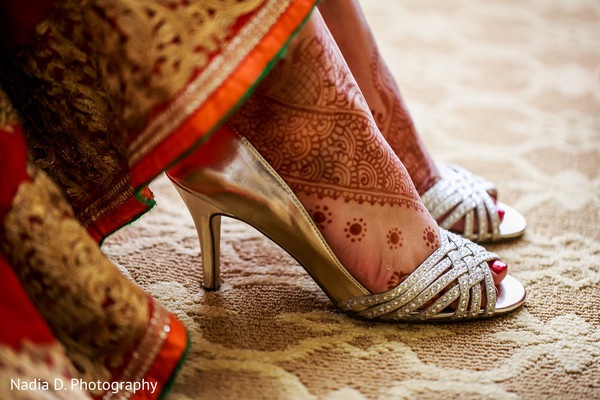 Shoes in Irving, TX Indian Wedding by Nadia D. Photography