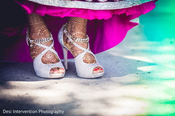 Heels and mehndi in Sacramento, CA Indian Wedding by Desi Intervention Photography
