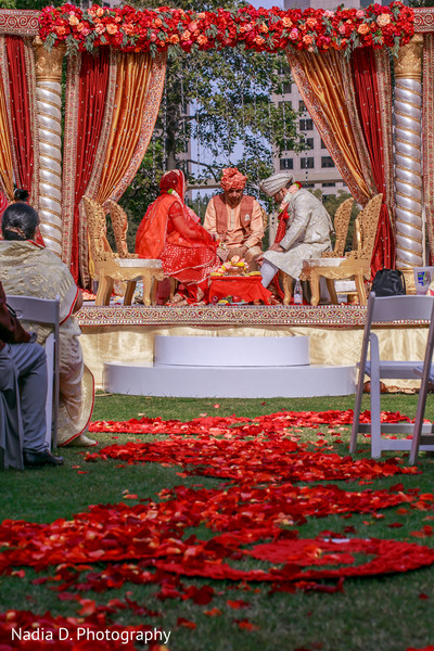 Ceremony in Irving, TX Indian Wedding by Nadia D. Photography