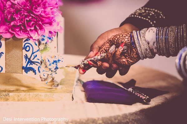 Cake cutting in Sacramento, CA Indian Wedding by Desi Intervention Photography