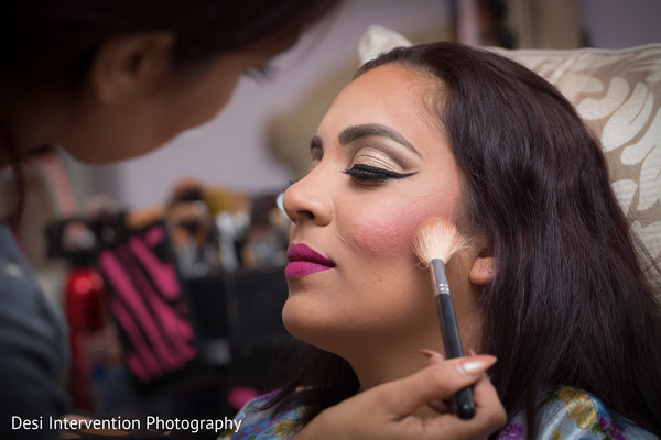 Getting ready in Sacramento, CA Indian Wedding by Desi Intervention Photography