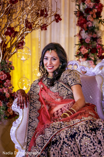 Reception Portrait in Irving, TX Indian Wedding by Nadia D. Photography
