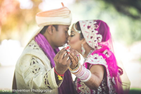 First look portrait in Sacramento, CA Indian Wedding by Desi Intervention Photography