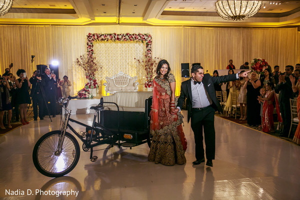Reception in Irving, TX Indian Wedding by Nadia D. Photography